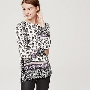 NWT LOFT floral boho poet blouse